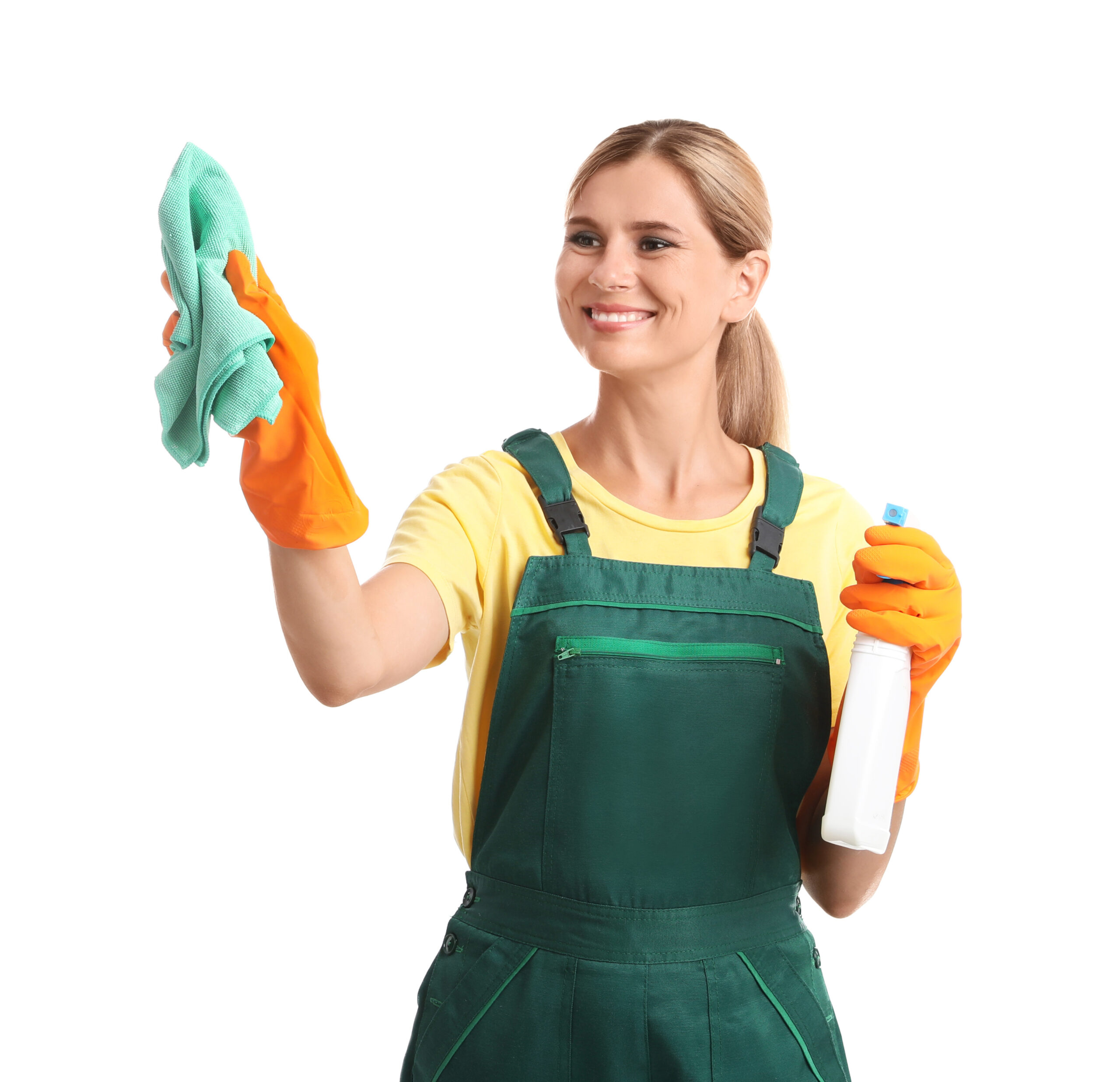 Professional window cleaner using window cleaning chemicals